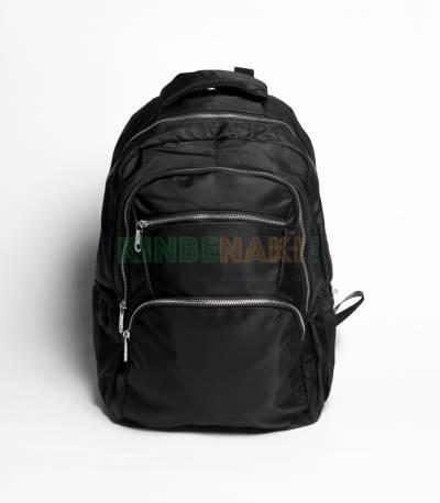 Fortune Multi Chain Pocket Black Color Backpack