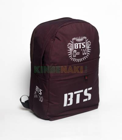 BTS Maroon Color Backpack