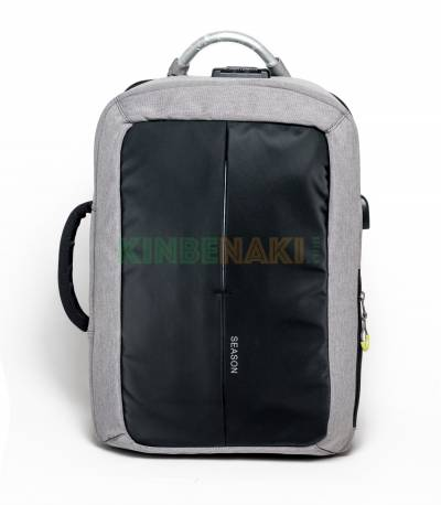 Season Black And Ash Color Anti Theft Backpack