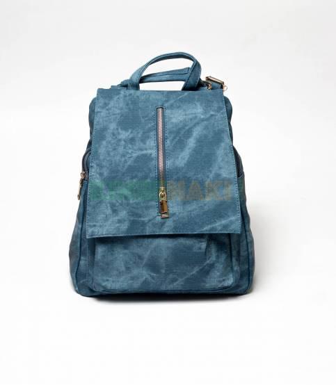 Denim Design Blue Girls Mini Backpack