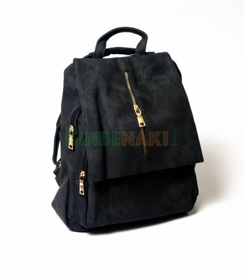 Denim Design Black Girls Mini Backpack