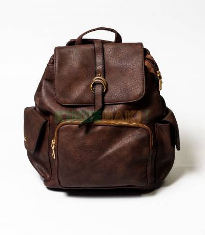 MCM Coffee Girls Mini Backpack