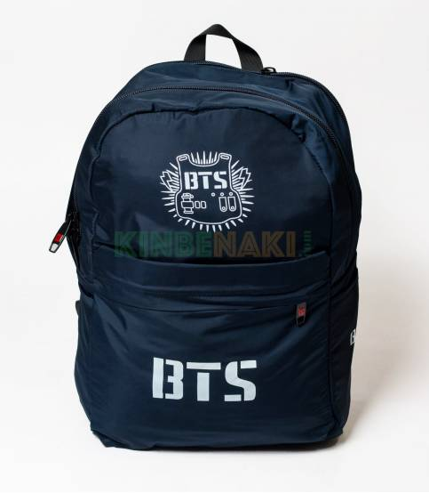 BTS Solid Navy Blue Fabrics Backpack