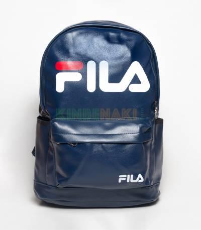 Fila Blue PU Leather Backpack