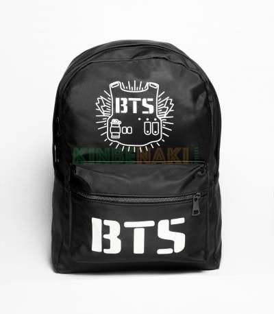 BTS Parachute Fabric Black Backpack