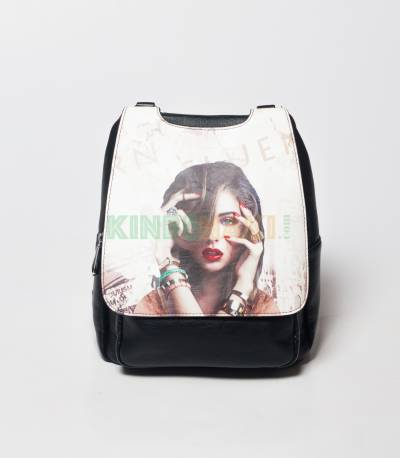 Sheng Cute Little Girls Look Black Mini Backpack