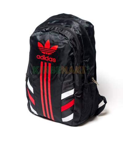 3-Stripes RED Adidas Black backpack