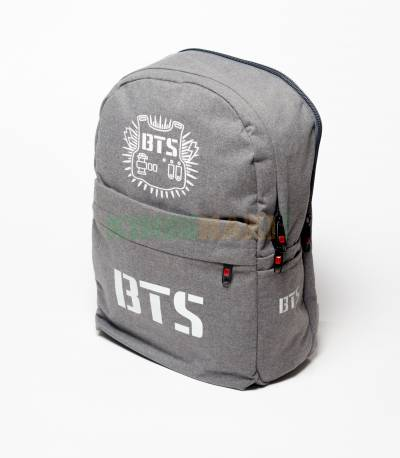 BTS Solid Gray Fabrics Backpack