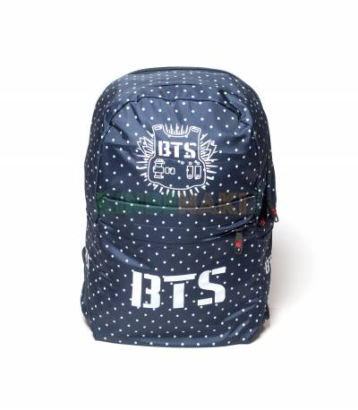 BTS Navy Polka Dot Backpack