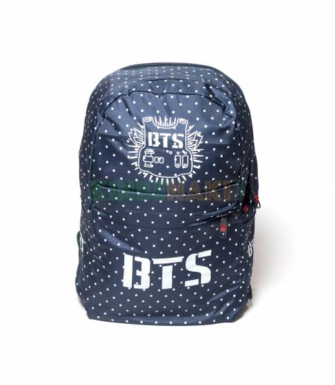 BTS Solid Black peint Fabrics Backpack