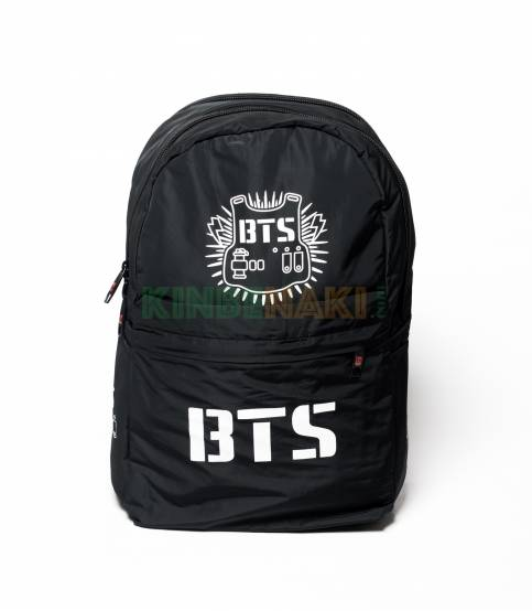 BTS Solid Black Backpack