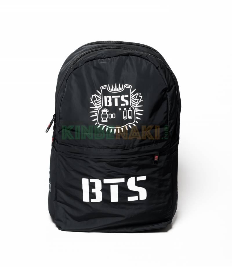 Buy BTS Solid Black Backpack in Bangladesh.