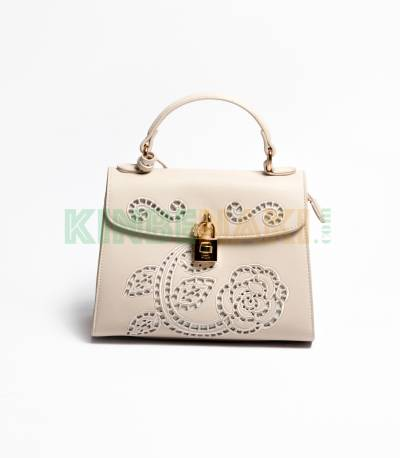 Susen Flower Cream Hand Bag