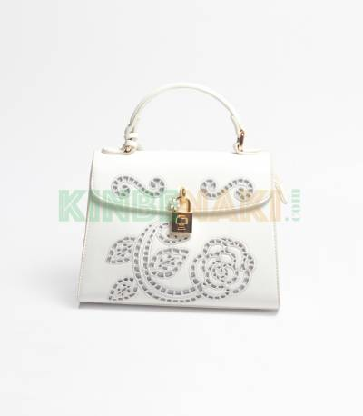 Susen Flower Whtie Hand Bag