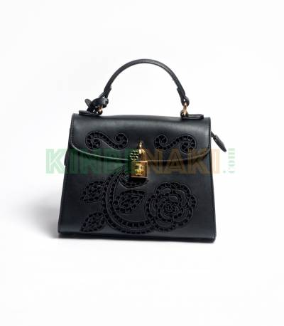 Susen Flower Black Hand Bag