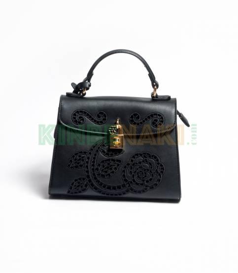 Susen Flower Black Hand Bag