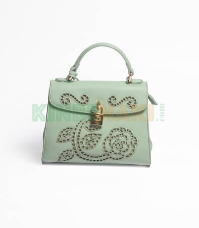 Susen Flower Green Hand Bag