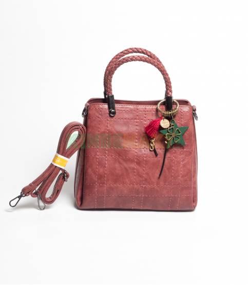 Oleshi Maroon Hand Bag