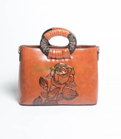 Lianhuier Brown Hand Bag