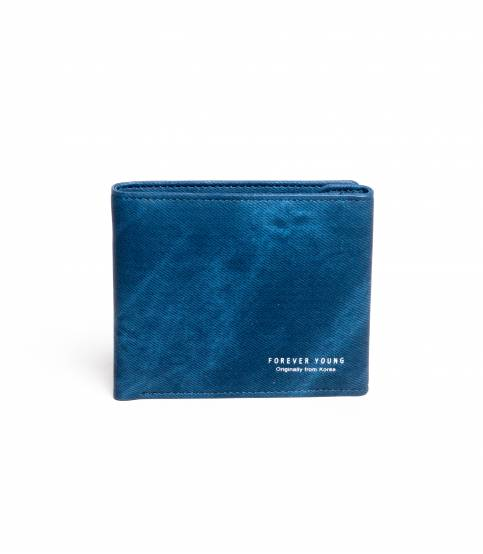 Forever Young Leather Wallet Dark Blue
