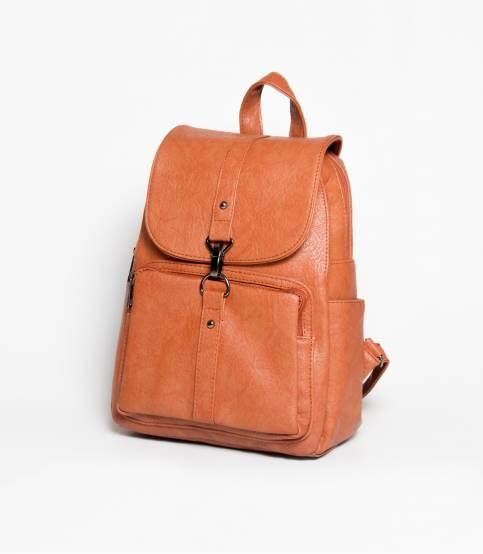 Hoodie Wooden Brown Girls Mini Backpack