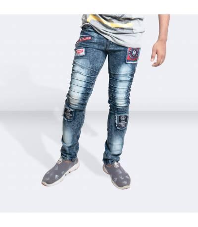 Light Blue Denim Jeans Pants for Men