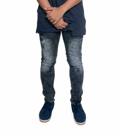Black Stretch Denim Jeans For Men