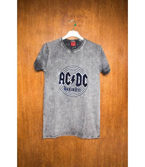 AC DC Rock Or Bust Grey T-Shirt