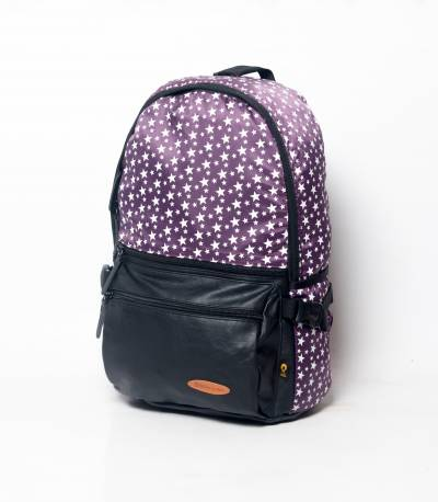 Purple Backpack With Star