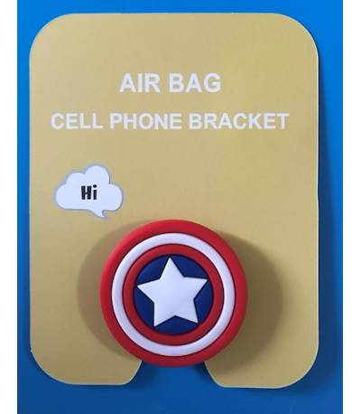 Air Bag Cell Phone Bracket captain america Finger Holder