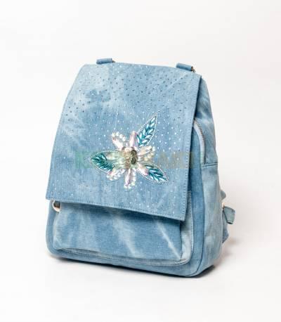 Denim Design Blue Girls Mini Backpack V3