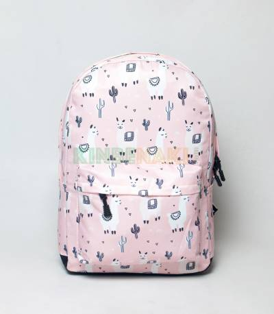 Hores & Caktas Light Pink Girls Backpack