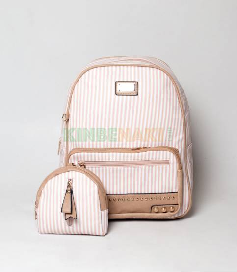 JJ Fashion Sweet & Cute Small Stripe Girls Mini Backpack