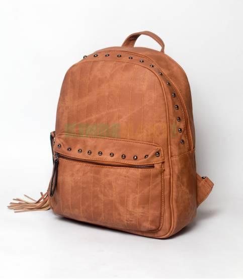 Lovely Brown Stripe Girls Mini Backpack