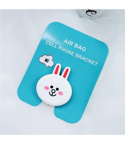 Air Bag Cell Phone Bracket Cute white rabbit Finger Holder