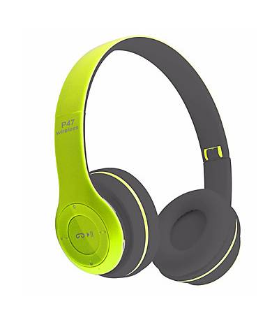 P47 - Wireless Bluetooth Headphone TF card Support and FM radio Light Green Color