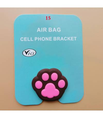 Air Bag Cell Phone Bracket Dark Chocolate And Pink foot stap Finger Holder