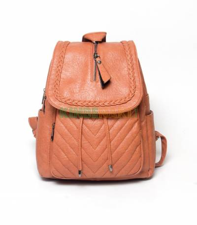 Hoodie Wooden Brown Girls Mini Backpack V2