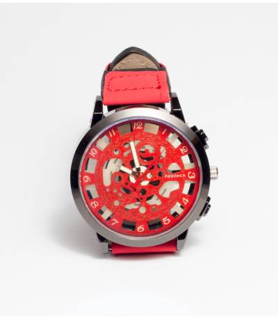 Fasteck Analog Red Watch For Men