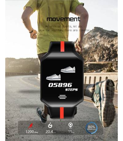 B07 Smart Fitness Bracelet Sport App Control Watch