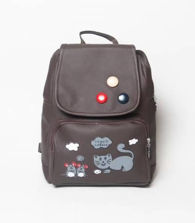 Cat & Bird Yunuo Dark Chocolate Color Girls Mini Backpack