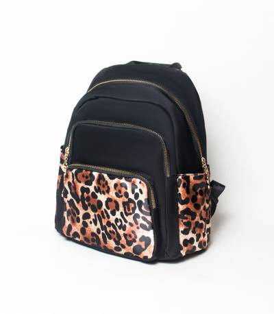 Chita Print Black Color Girls Mini Backpack