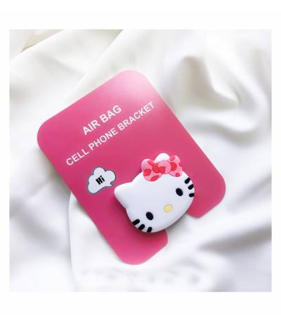 Air Bag Cell Phone Bracket Cute Cat face Finger Holder