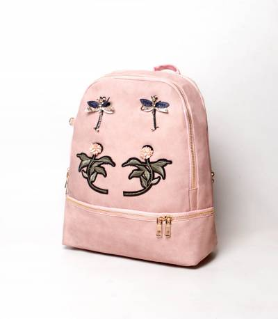 Flower Light Pink Color Backpack