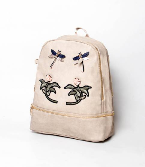 Flower Off-White Color Backpack