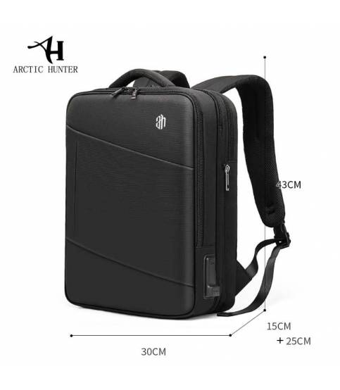 ARCTIC HUNTER Multi-layer Travel High Capacity USB Recharging Laptop Backpack