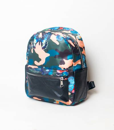 Army & Butterfly Design Girls Mini Backpack