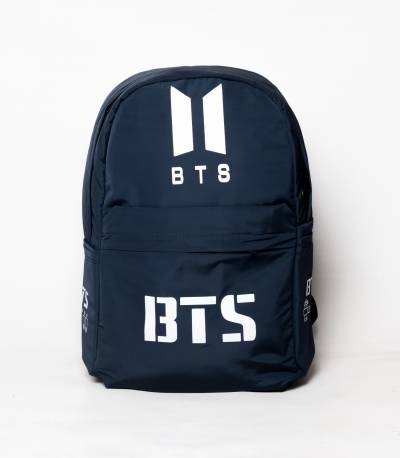 New BTS Dark Navy Blue Color Rexine Backpack