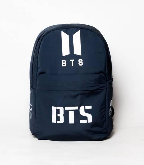 New BTS Dark Navy Blue Color Rexine Backpack