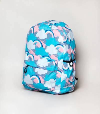 Cute Cat Gray & White Girls Backpack